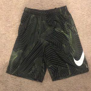 Nike Dryfit Black & Green Athletic Shorts - XL